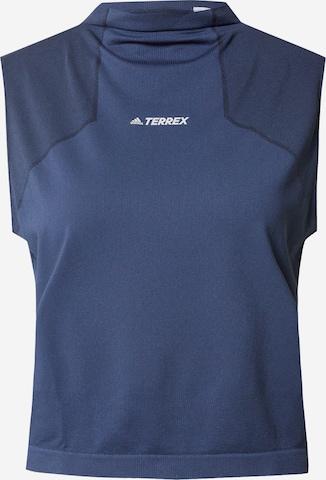 adidas Terrex Sports Top in Blue