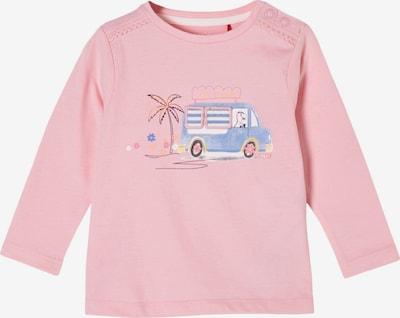 s.Oliver Shirt in de kleur Smoky blue / Pasteelgeel / Rosa / Zwart, Productweergave