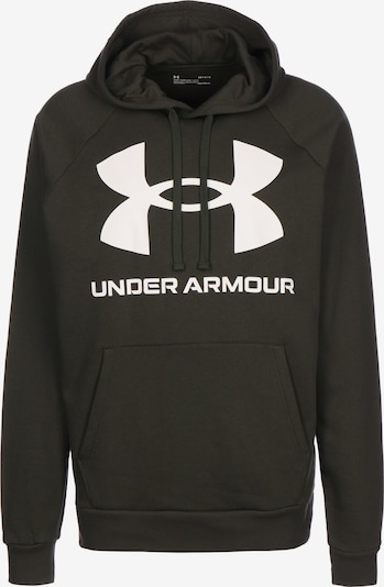 UNDER ARMOUR Sportsweatshirt 'Rival Fleece Big Logo ' in de kleur Donkergroen / Wit, Productweergave