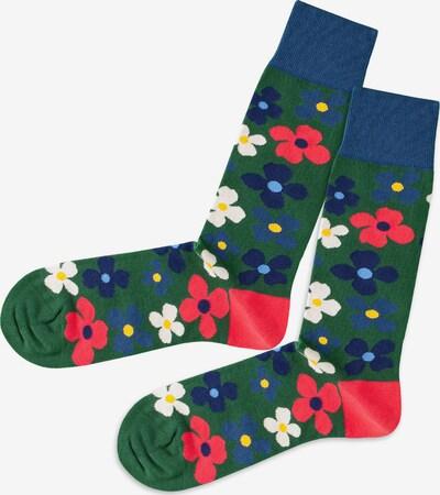 DillySocks Socken in blau / grün / pink / weiß, Produktansicht