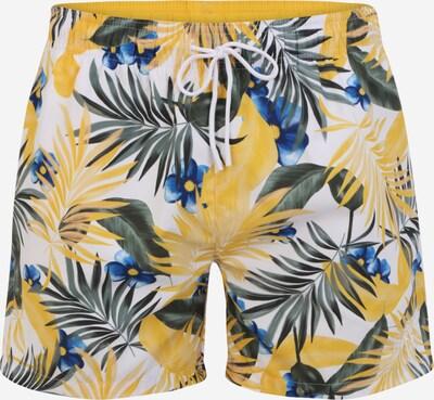 BOSS Board Shorts 'Turtle' in Blue / Yellow / Dark green / White, Item view