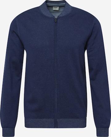 OLYMP Knit cardigan in Blue