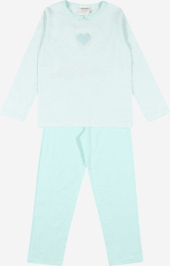 JACKY Schlafanzug en mint / weiß, Vue avec produit