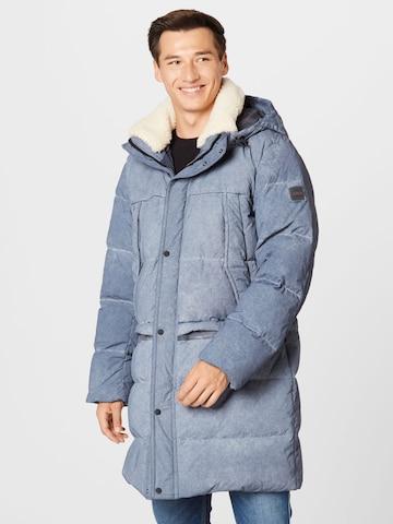 Manteau d'hiver 'Ohan' BOSS Casual en bleu