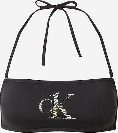 Sutien costum de baie Calvin Klein Swimwear pe galben / negru / alb, Vizualizare produs