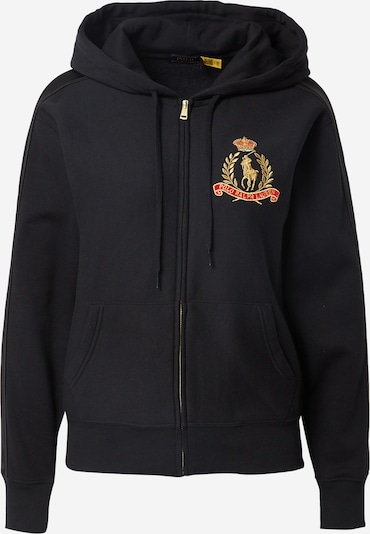 POLO RALPH LAUREN Sweat jacket in gold / red / black, Item view