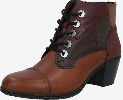 RIEKER Ankelstøvler i brun / cognac / bordeaux, Produktvisning