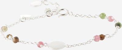 Pernille Corydon Jewellery Pulsera 'Afterglow' en marrón / verde claro / rosa / plata / blanco, Vista del producto
