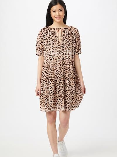 NA-KD Kleid in beige / braun / schwarz, Modelansicht