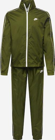 Nike Sportswear Trainingspak in de kleur Olijfgroen / Wit, Productweergave