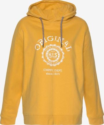 HIS JEANS Sweatshirt in Yellow