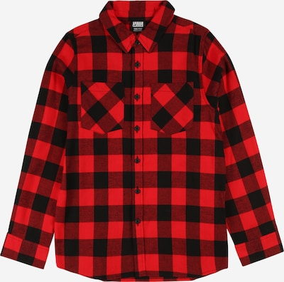 Urban Classics Kids Button Up Shirt in Red / Black, Item view