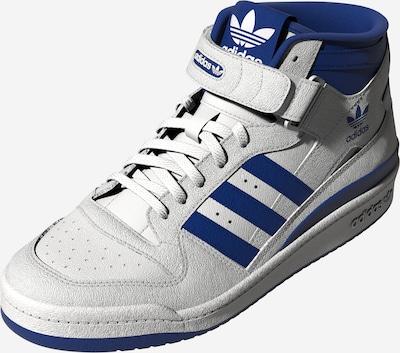 ADIDAS ORIGINALS Baskets hautes 'Forum' en bleu roi / blanc, Vue avec produit