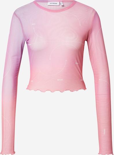 WEEKDAY Camiseta 'Sena' en lila / rosa / blanco, Vista del producto