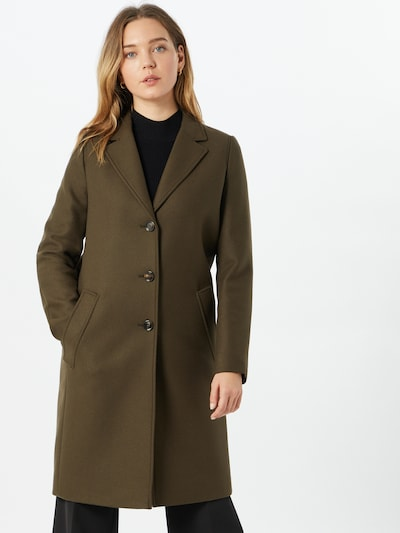 BOSS Between-seasons coat 'C_Coluise' in green, View model