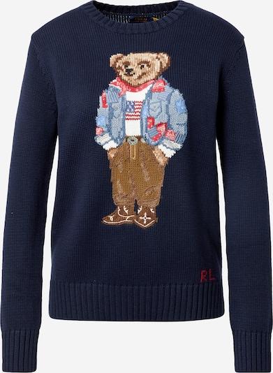 Pullover Polo Ralph Lauren di colore navy / blu chiaro / marrone / rosso / bianco, Visualizzazione prodotti