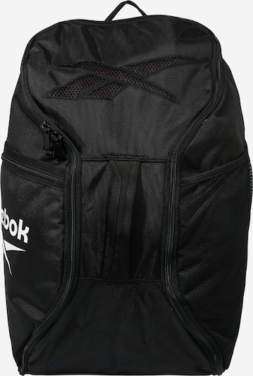 REEBOK Sports backpack in black / white, Item view