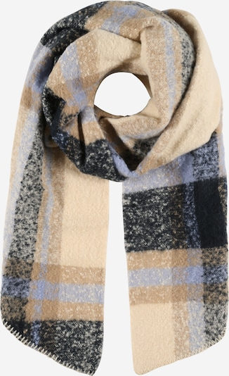 PIECES Scarf 'Pyron' in Navy / Light brown / Light purple, Item view
