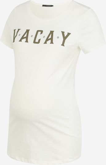 Supermom Shirt 'Vacay' in gold / weiß, Produktansicht