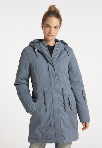 DreiMaster Vintage Winter Coat in Smoke blue, View model
