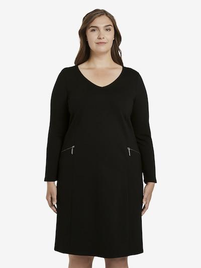MY TRUE ME Schlichtes Kleid mit Reißverschlüssen in schwarz, Modelansicht