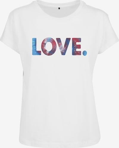 Merchcode T-shirt 'Love' en mélange de couleurs / blanc, Vue avec produit