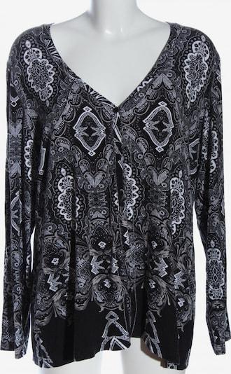 IMAGINI Langarm-Bluse in 4XL in schwarz / weiß, Produktansicht