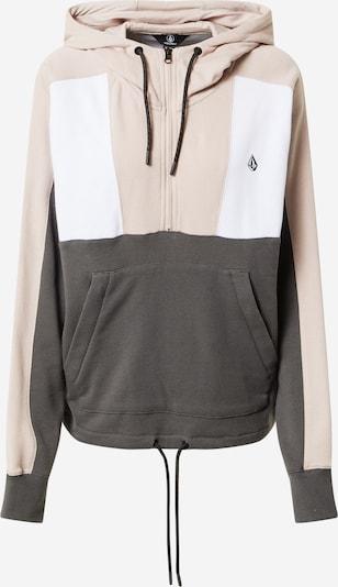 Volcom Sportovní mikina - tmavě šedá / pudrová / bílá, Produkt