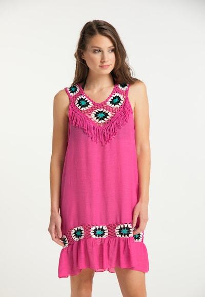 IZIA Sommerkleid in türkis / pink / schwarz / weiß, Modelansicht