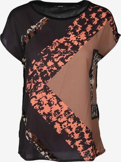 OPUS T-Shirt in braun / orange / schwarz, Produktansicht