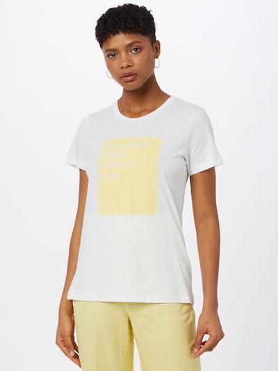 Kaffe T-shirt 'Vita' en jaune / blanc: Vue de face