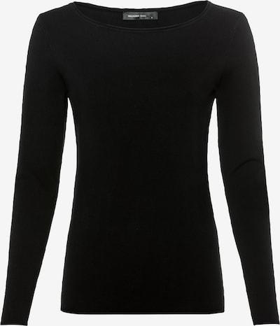 HALLHUBER Basic-Pullover mit Rollsaum in schwarz, Produktansicht