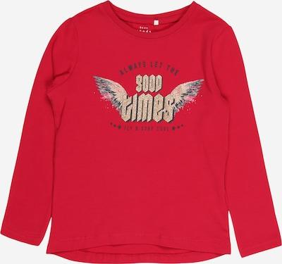 NAME IT Shirt 'VIX' in dunkelblau / gold / grau / rot, Produktansicht