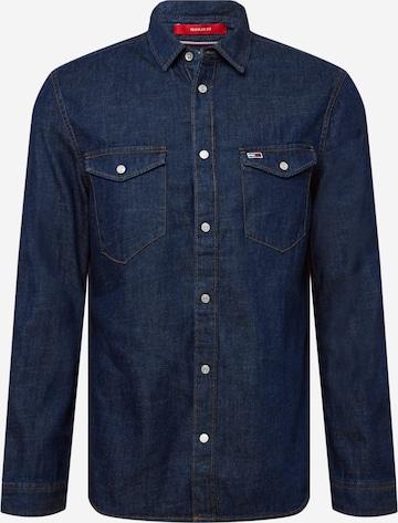 Tommy Jeans Triiksärk 'WESTERN', värv sinine