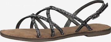 s.Oliver Strap sandal in Grey