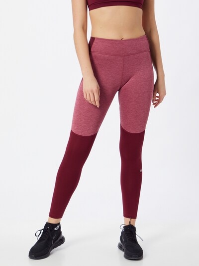 Sportinės kelnės 'Fast Warm' iš NIKE , spalva - uogų spalva / rausvai violetinė: Vaizdas iš priekio