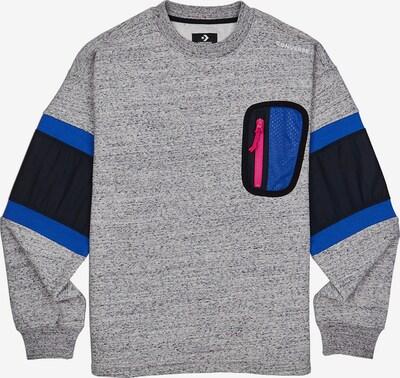 CONVERSE Sweatshirt in blau / grau / neonpink / schwarz, Produktansicht