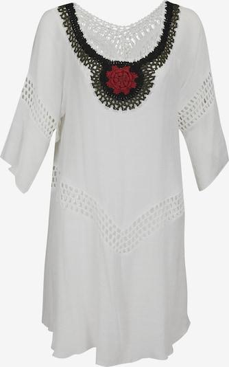 usha FESTIVAL Strandjurk in de kleur Rood / Zwart / Wit, Productweergave