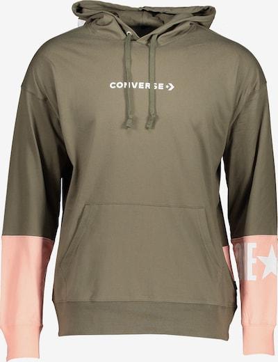 CONVERSE Sweatshirt in oliv / pastellpink, Produktansicht