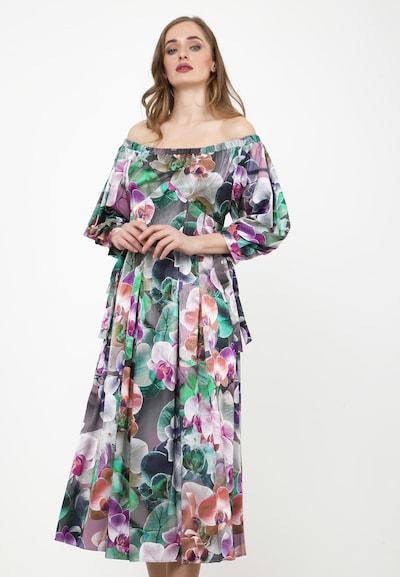 Madam-T Sommerkleid 'Antonella' in mischfarben, Modelansicht