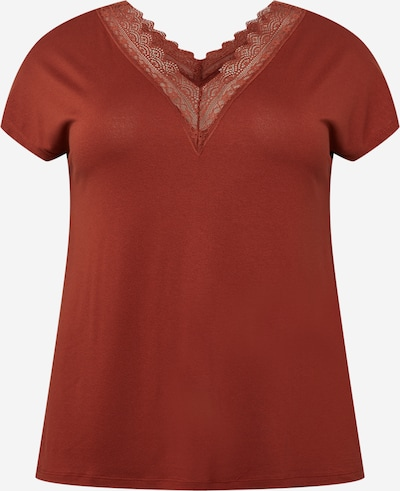 ONLY Carmakoma T-Shirt in rostbraun, Produktansicht