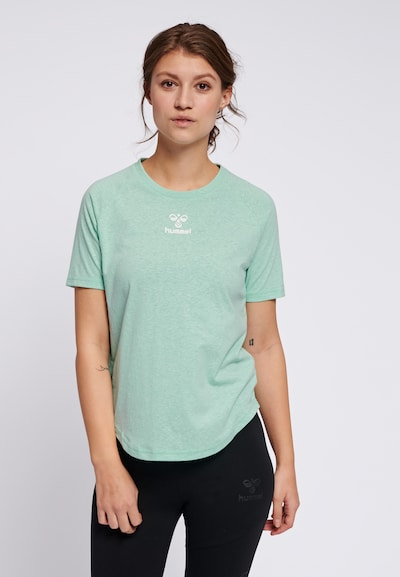 Hummel T-shirt in grün / weiß: Frontalansicht
