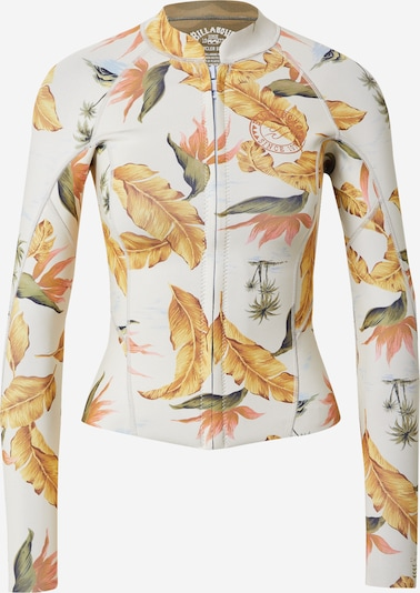 BILLABONG Functional shirt 'PEEKY' in yellow gold / Light green / Pastel orange / White, Item view