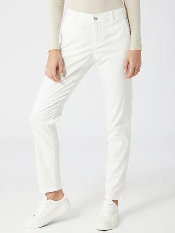 TAIFUN Chinohousut värissä valkoinen
