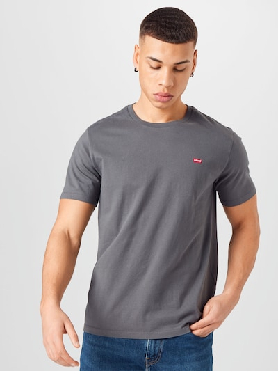 Tricou LEVI'S pe gri: Privire frontală