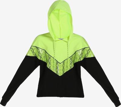myMo ATHLSR Sportsweatshirt in kiwi / schwarz, Produktansicht