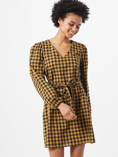 JACQUELINE de YONG Kleid 'Rome' in gelb / schwarz, Modelansicht