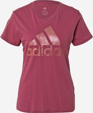 ADIDAS PERFORMANCE Funksjonsskjorte i rød