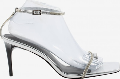 ZARA High Heel Sandaletten in 41 in silber, Produktansicht