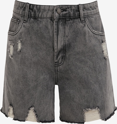 Finn Flare Jeans Shorts in grau, Produktansicht